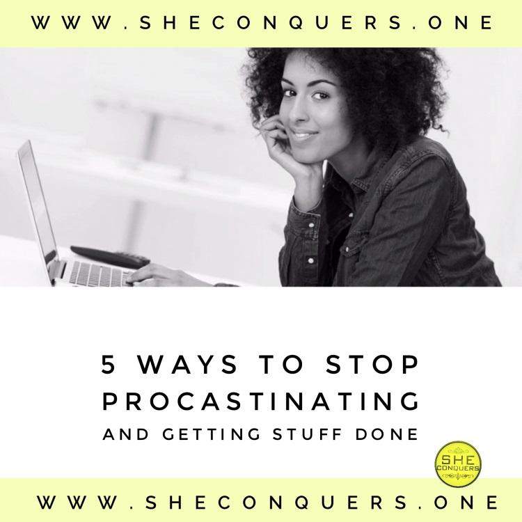 5ways tostopprocrastinating