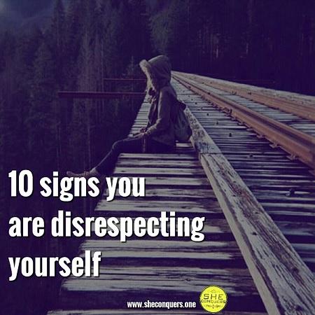 selfdisrepect